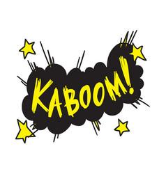 kaboom word in explosion cloud vector image