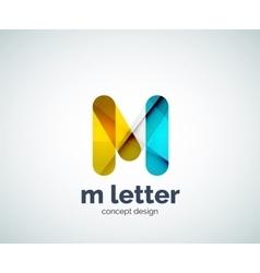 Letter m logo vector image