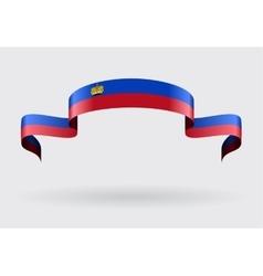 Liechtenstein flag background vector image