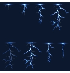 Lightning thunderbolt fx animation frames sprite vector