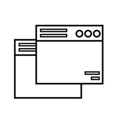 Line technology windows element and website vector