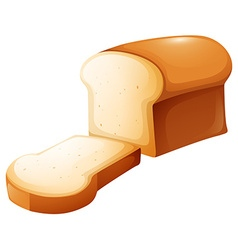 Loaf of bread and single slice vector
