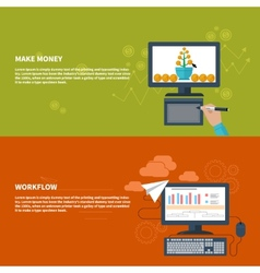 Make money and workflow business concept vector