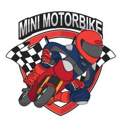 mini motorbike racing design vector image