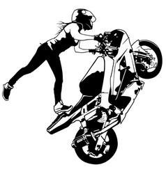 Motorbike girl vector