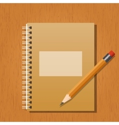 Note and a pencil vector image
