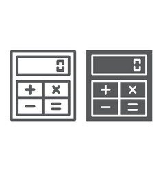online calculator line and glyph icon finance vector image
