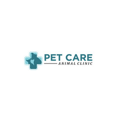 pet care abstract logo vector image