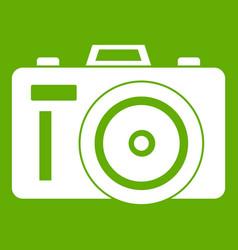 Photocamera icon green vector
