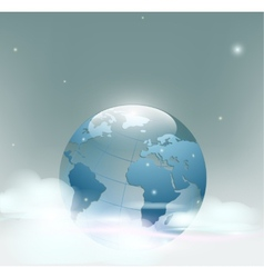 planet earth is covered clouds vector image