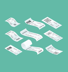 Purchasing check buying receipt calculate vector