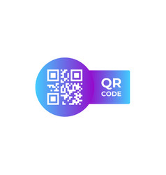 qr code icon in trendy flat style isolated vector image