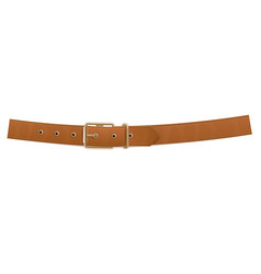 Realistic brown buttoned trouser leather belt vector