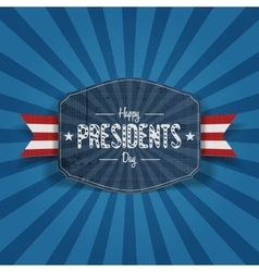 Retro blue Banner with Happy Presidents Day Text vector