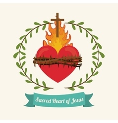 Sacred heart of jesus design vector