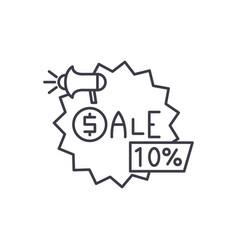sales line icon concept sales linear vector image