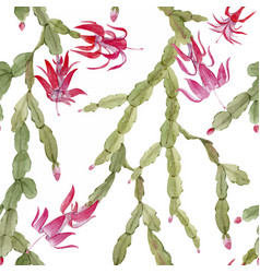 schlumberger cactus pattern vector image