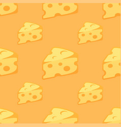 seamless pattern with pieces of cheese vector image