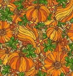 Seamless pumpkin pattern vector