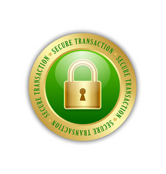 secure transaction padlock icon vector image
