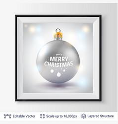 shiny decorative toy ball vector image