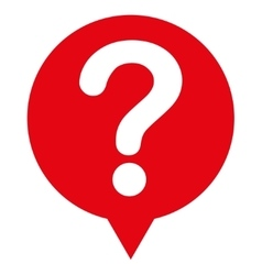 Status flat red color icon vector