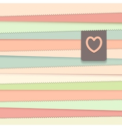 Striped background with label vector