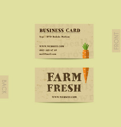 Stylish farm fresh visiting card template vector