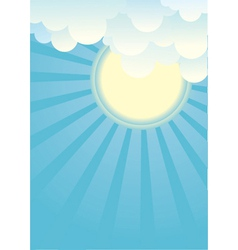Sun and beautifull clouds vector image