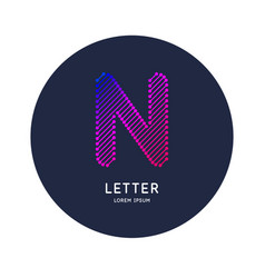 the letter n latin alphabet display vector image