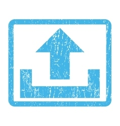 Upload Icon Rubber Stamp vector
