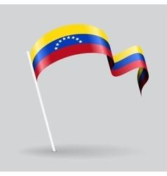 Venezuelan wavy flag vector image
