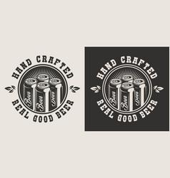 vintage brewery logotype vector image