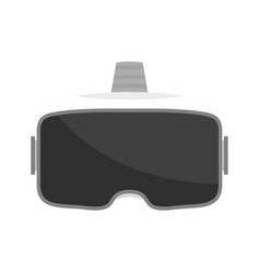 vr glasses headset icon flat style vector image