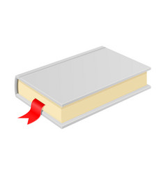 White book with bookmark vector