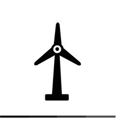wind turbine icon design vector image