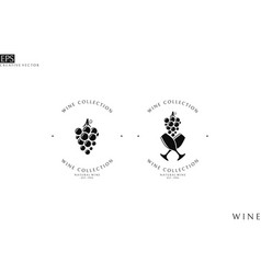 Wine collection logo template vector