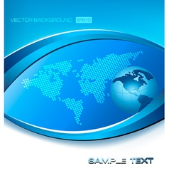 abstract blue elegant background with map and vector image vector image