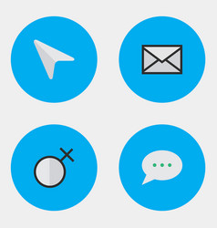 Set of simple ui icons elements pointer female vector