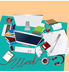 team workplace vector image