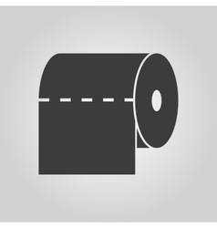 The toilet paper icon Towel and closet restroom vector image