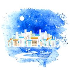 Winter urban background vector image vector image