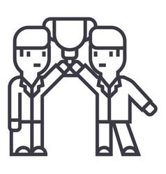 business team achievement goalswinners vector image