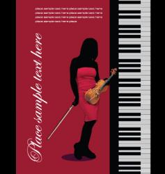 cover for brochure with piano vector image