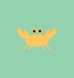crab in cartoon style seafood product design vector image vector image
