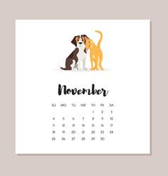 dog 2018 year calendar vector image vector image