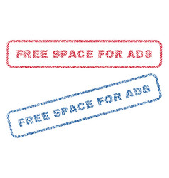 free space for ads textile stamps vector image