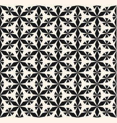 seamless pattern ornament geometric floral shapes vector image