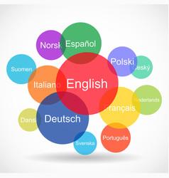 World languages concept vector