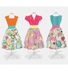 beautiful dress vector image vector image